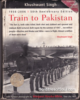 khuhwant sing first noveltrain to pakistan Pakistan gained a bad international reputation and was on the verge of bankruptcy khuhwant sing first noveltrain to pakistan pride of pakistan.